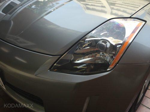 Z33のヘッドライトのクリーニング
