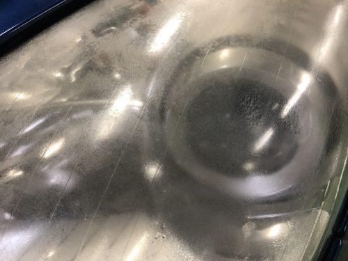 SLKのヘッドライト磨き